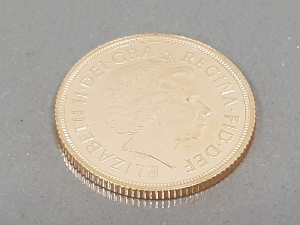 22CT GOLD 2013 FULL SOVEREIGN COIN UNCIRCULATED - Image 2 of 2