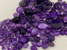 350 PLUS CARATS AMETHYST - VARIOUS CUTS, SHAPES AND SIZES