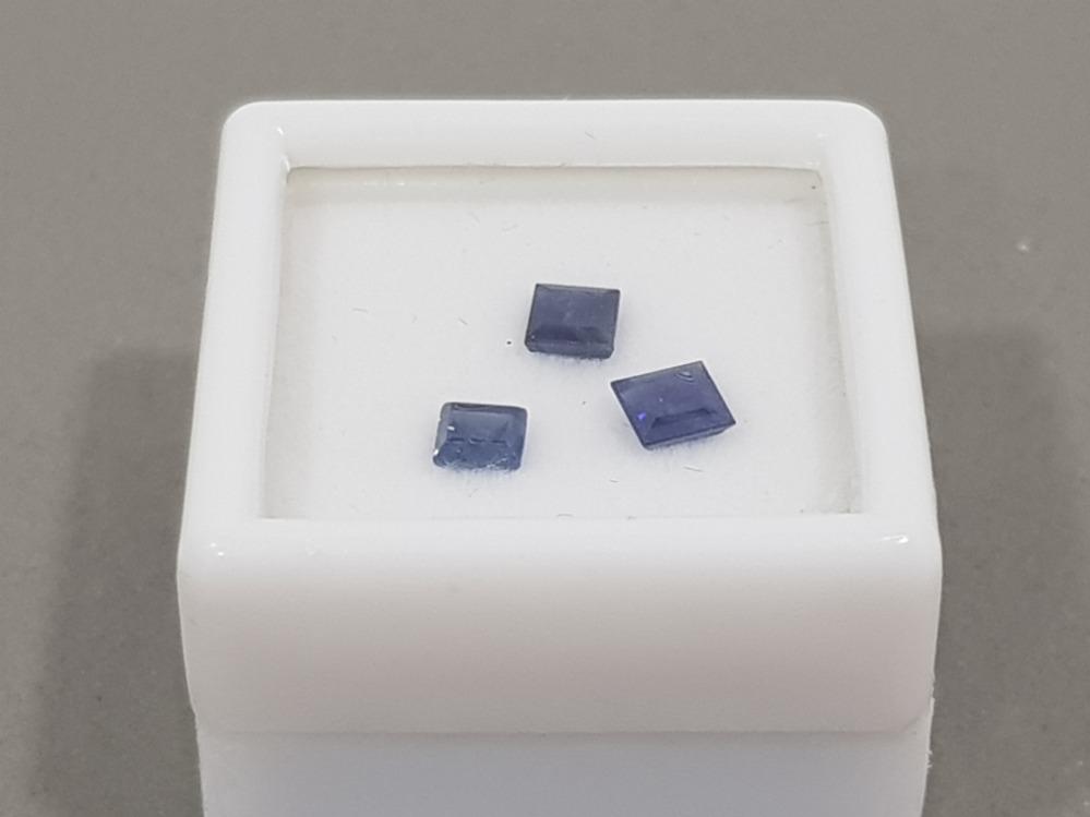 1.25 CARATS BLUE SAPPHIRES SQUARE CUTS