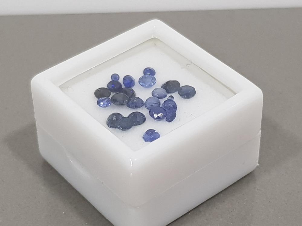 3.02 CARATS BLUE SAPPHIRES MIXED COLOUR GRADES ROUND CUTS