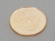22CT GOLD 2013 FULL SOVEREIGN COIN UNCIRCULATED