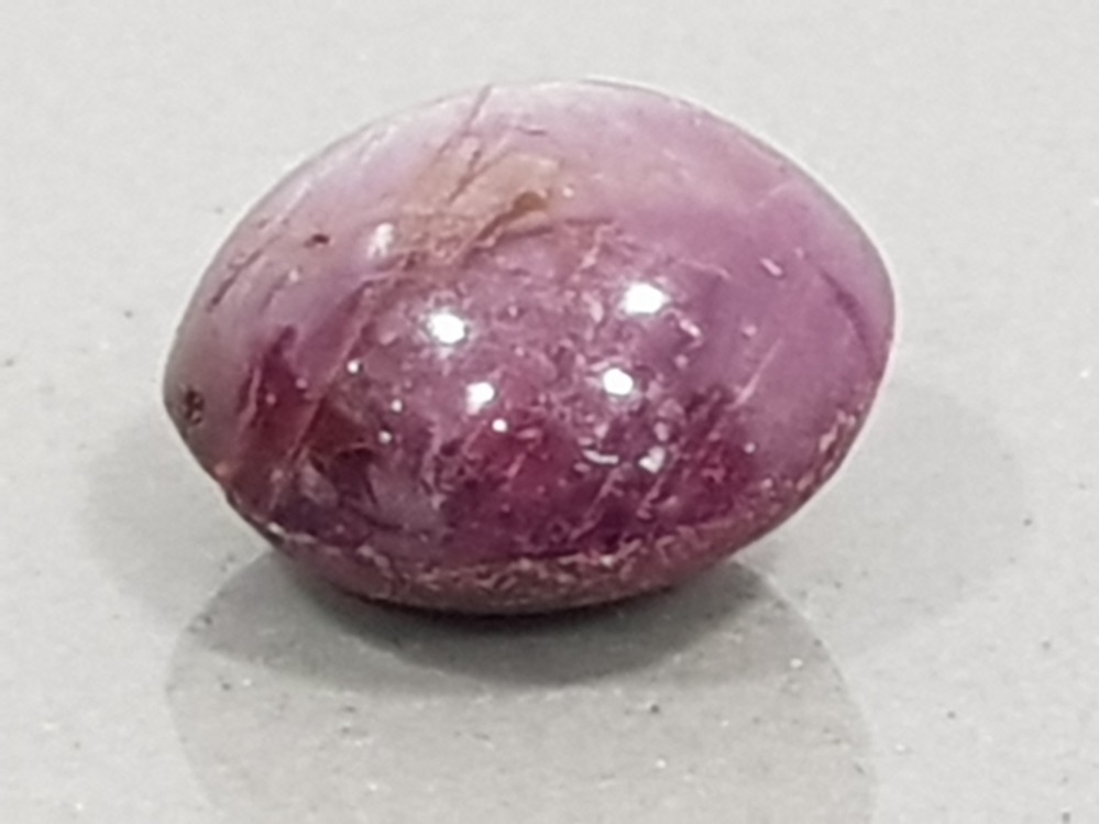 15.57 CARATS NATURAL STAR RUBY CABOCHON CUT WITH ASTERISM EFFECT 6 RAY LINE GREAT COLLECTORS LOT - Image 2 of 2