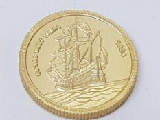 1994 ROYAL MINT TRIAL 2 POUND COIN, RARE MONO METALLIC UNC