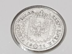 GERMAN STATES THALER 1823A HIGH GRADE SILVER MINTAGE 761, 163 REF: KM 413