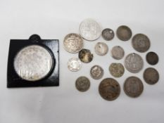 COLLECTION OF MIXED OLD WORLD SILVER COINS VARIOUS GRADES