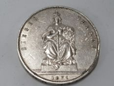 GERMAN SILVER THALER 1871 BERLIN