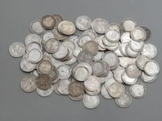 100 PRE 1920 SILVER COINS THREEPENNY BITS .925 SILVER