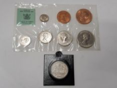 8 COINS INCLUDING 1926 AUSTRIAN FLORIN HIGH GRADE SOME LUSTRE AND 1965 NEW ZEALAND SEALED B.UNC
