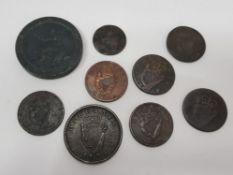 9 IRISH COIN COLLECTION PLUS 1797 2D CARTWHEEL