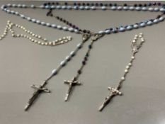 3 SETS OF ROSARY BEADS