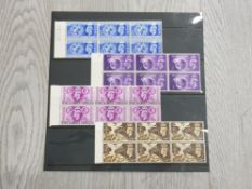 1948 OLYMPIC GAMES SET OF 4 IN UNMOUNTED MINT BLOCKS OF 6