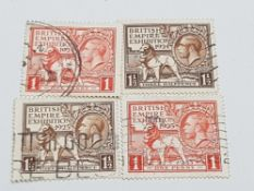 1924 AND 1925 WEMBLEY EXHIBITION SETS BOTH FINE USED