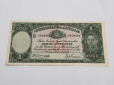 AUSTRALIAN 1942 KGVI £1 EXTRA FINE