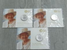 3 FINE SILVER £20 ALL 2016 QUEENS 90TH BIRTHDAY IN PACKS OF ISSUE