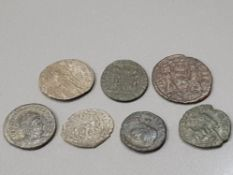 7 ROMAN COIN COLLECTION ALL WITH GOOD GRADES