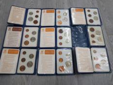 9 BRITISH 1971 FIRST DECIMAL COIN PACKS