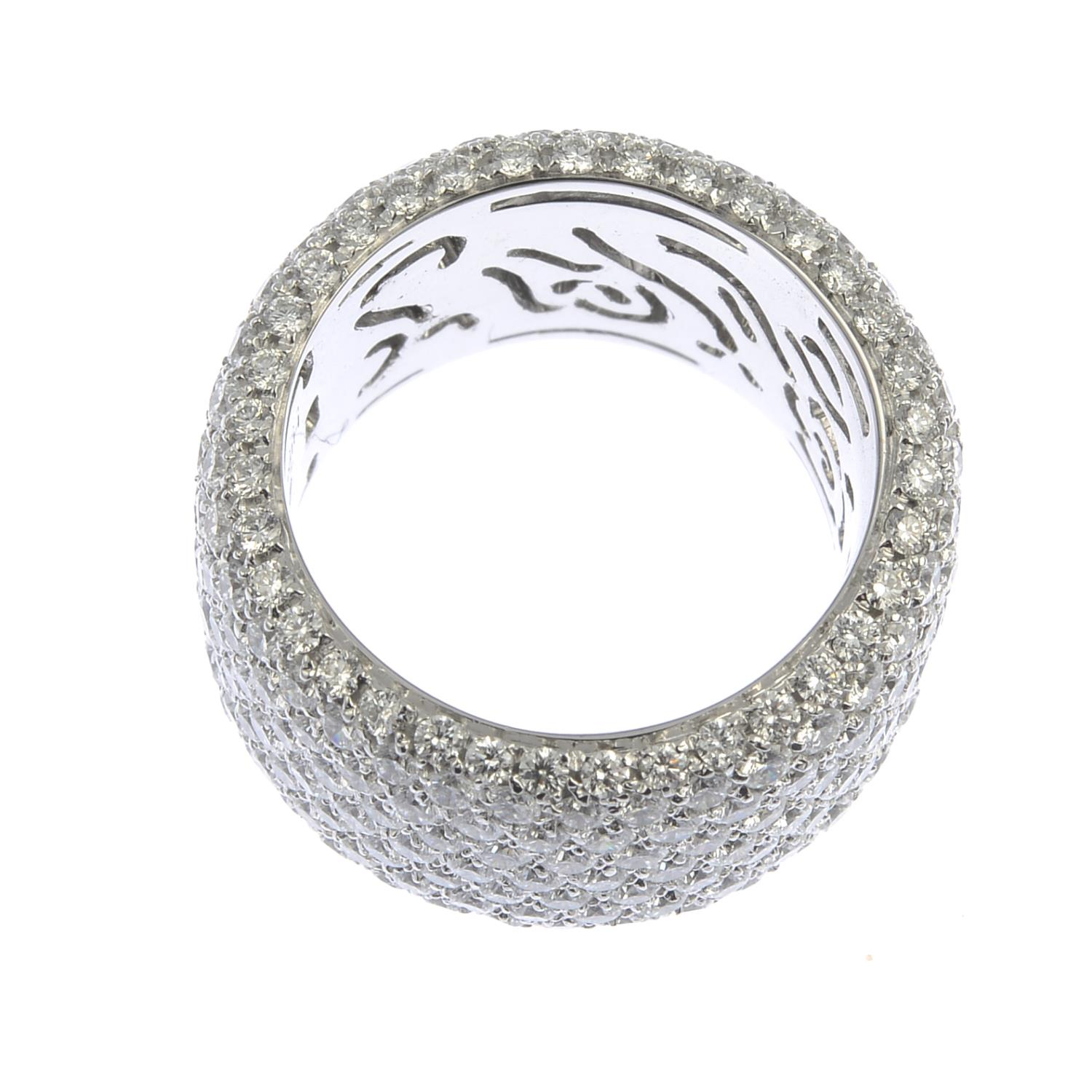 Lot 140 - A pave-set diamond full circle eternity ring,