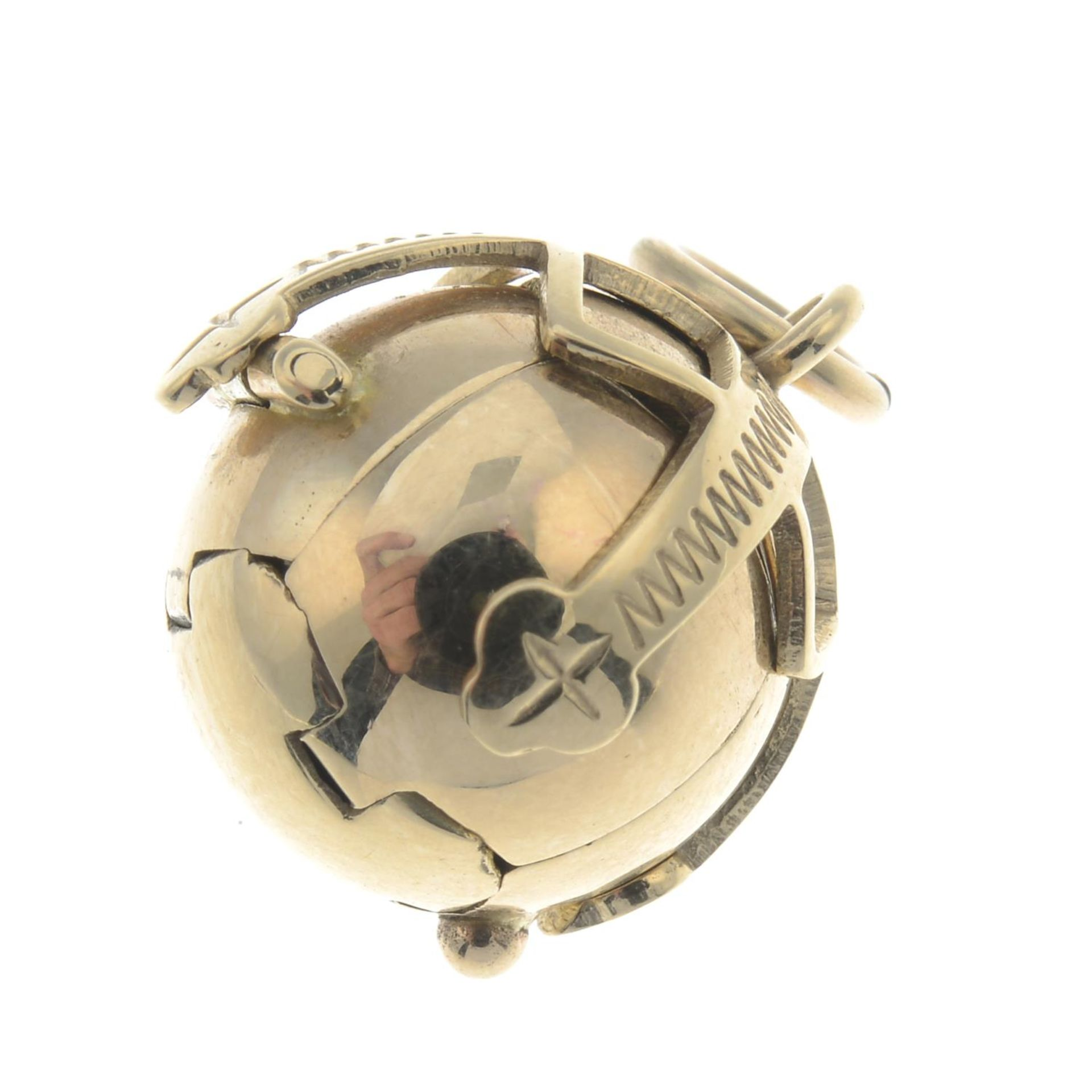 Los 48 - A 9ct gold Masonic ball fob.Hallmarks for 9ct gold.