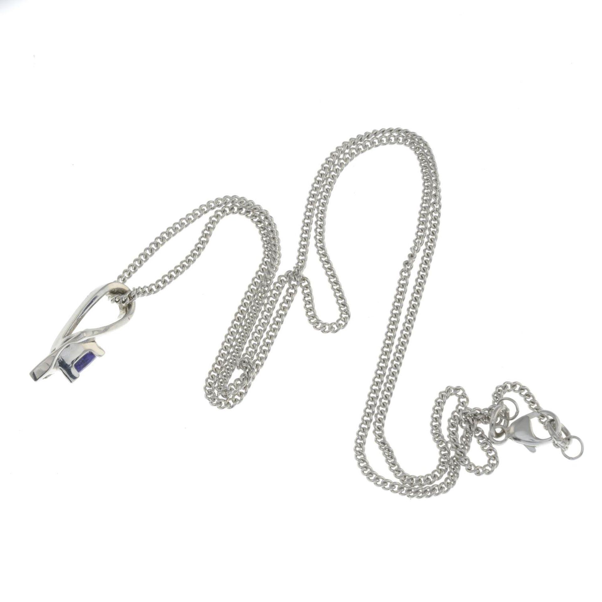 A tanzanite and diamond pendant, - Bild 2 aus 2