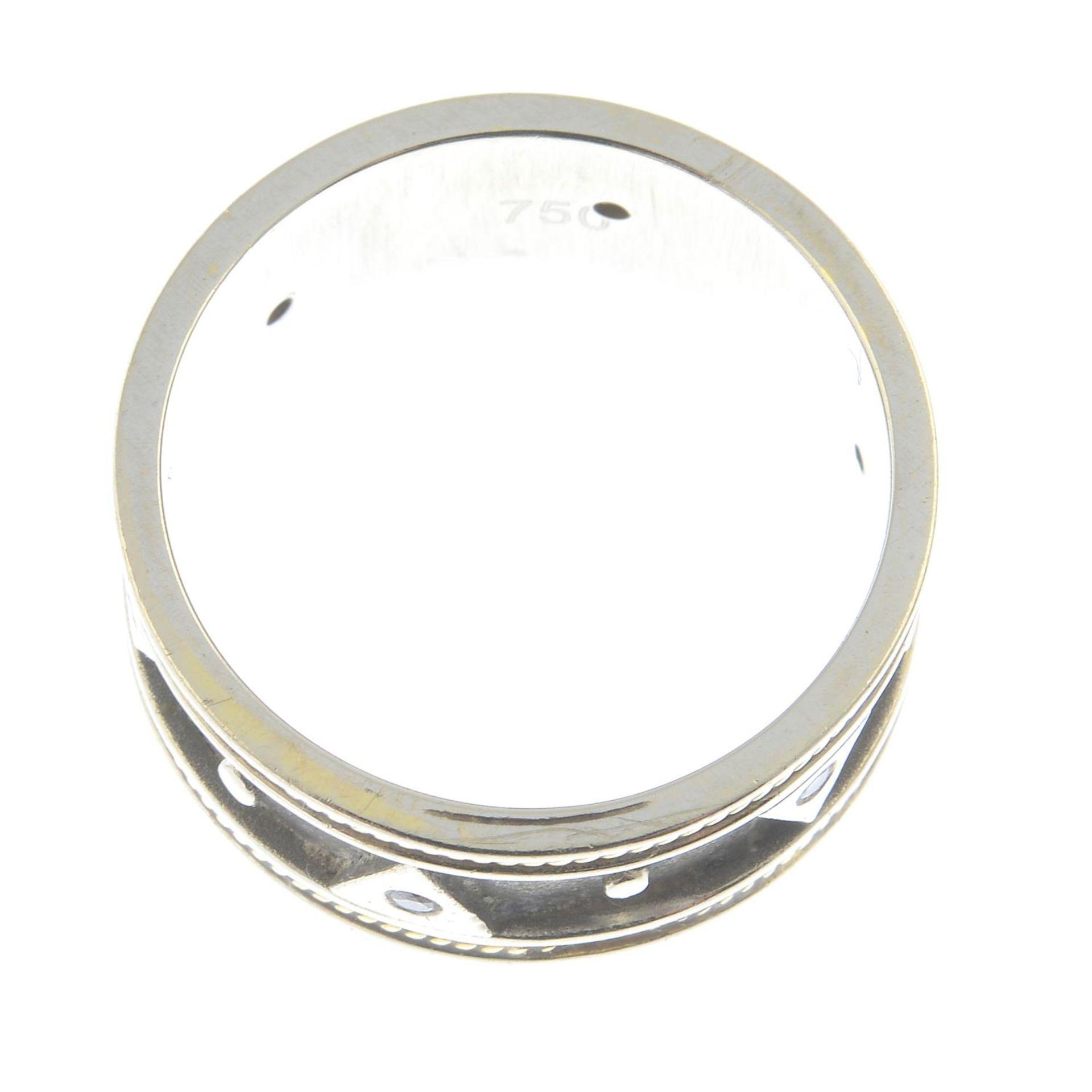 An 18ct gold brilliant-cut diamond band ring.Hallmarks for Birmingham.Ring size P1/2. - Bild 2 aus 2