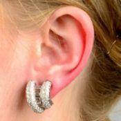 A pair of mid 20th century 14ct gold vari-cut diamond earrings, by A.E Köchert.
