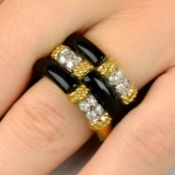 A suite of onyx and diamond jewellery,