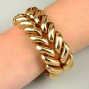 A 9ct gold bracelet, by Kutchinsky.Hallmarks for London, 1959.