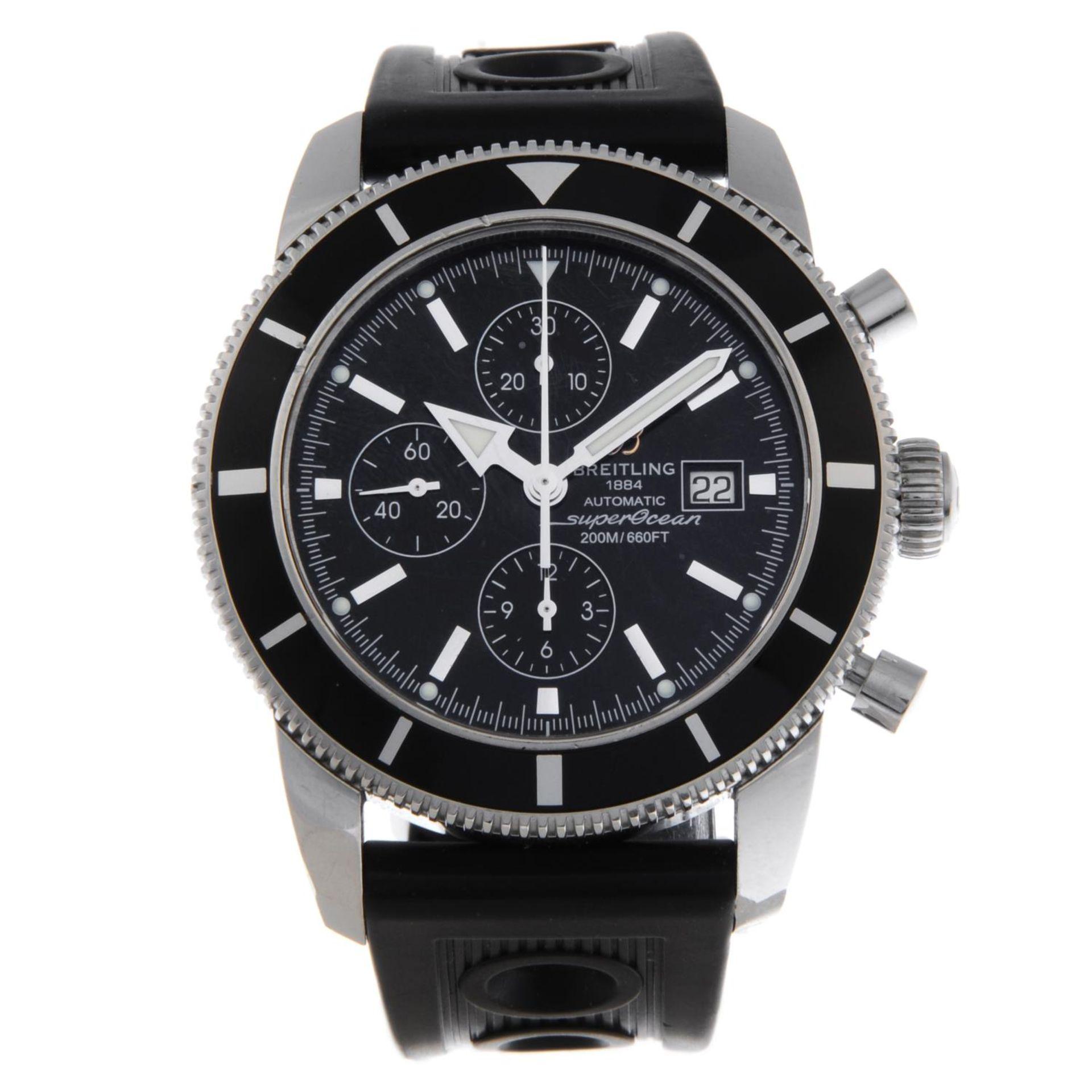 Los 5 - BREITLING - a gentleman's SuperOcean Heritage Chrono 46 chronograph wrist watch.