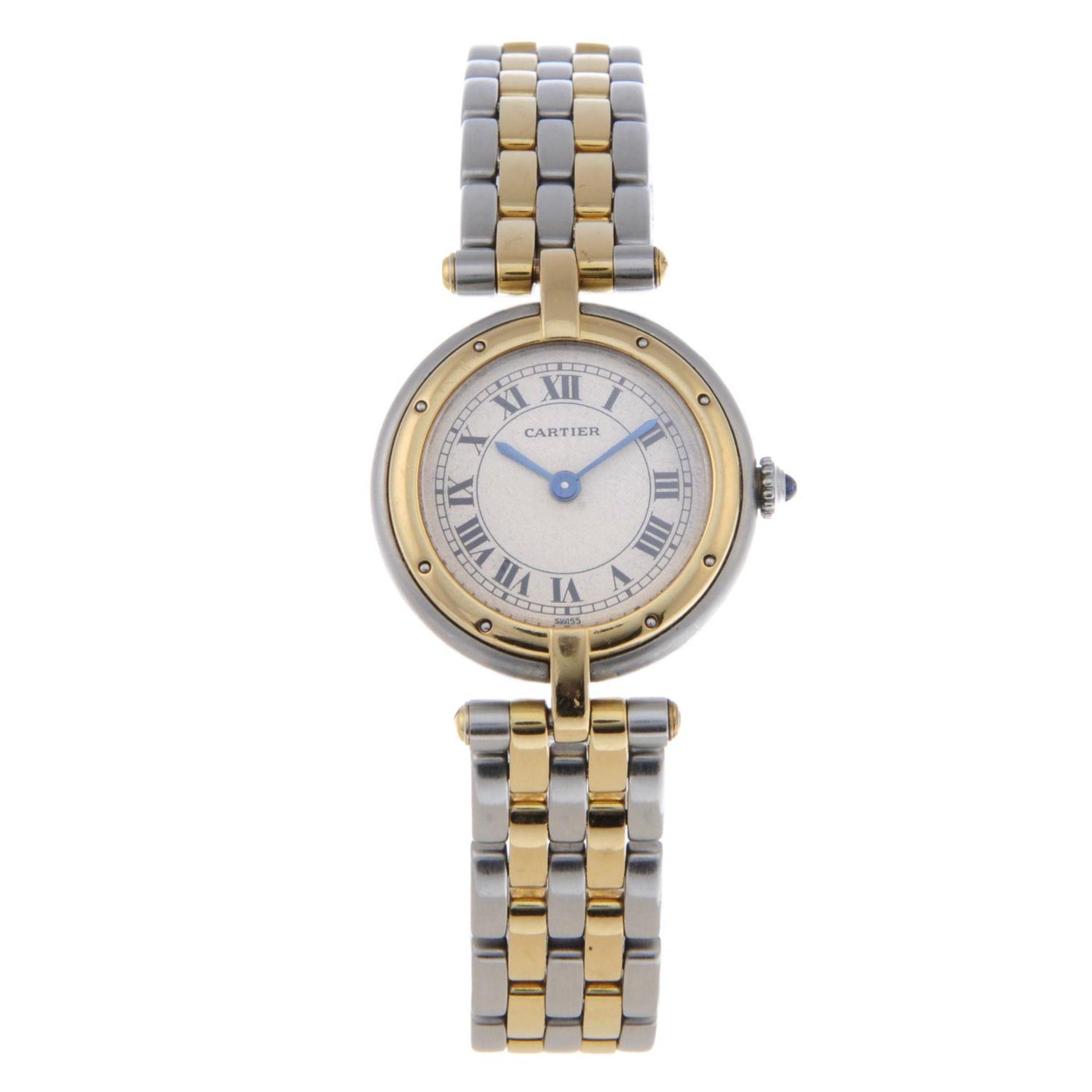Los 15 - CARTIER - a lady's Panthère bracelet watch.