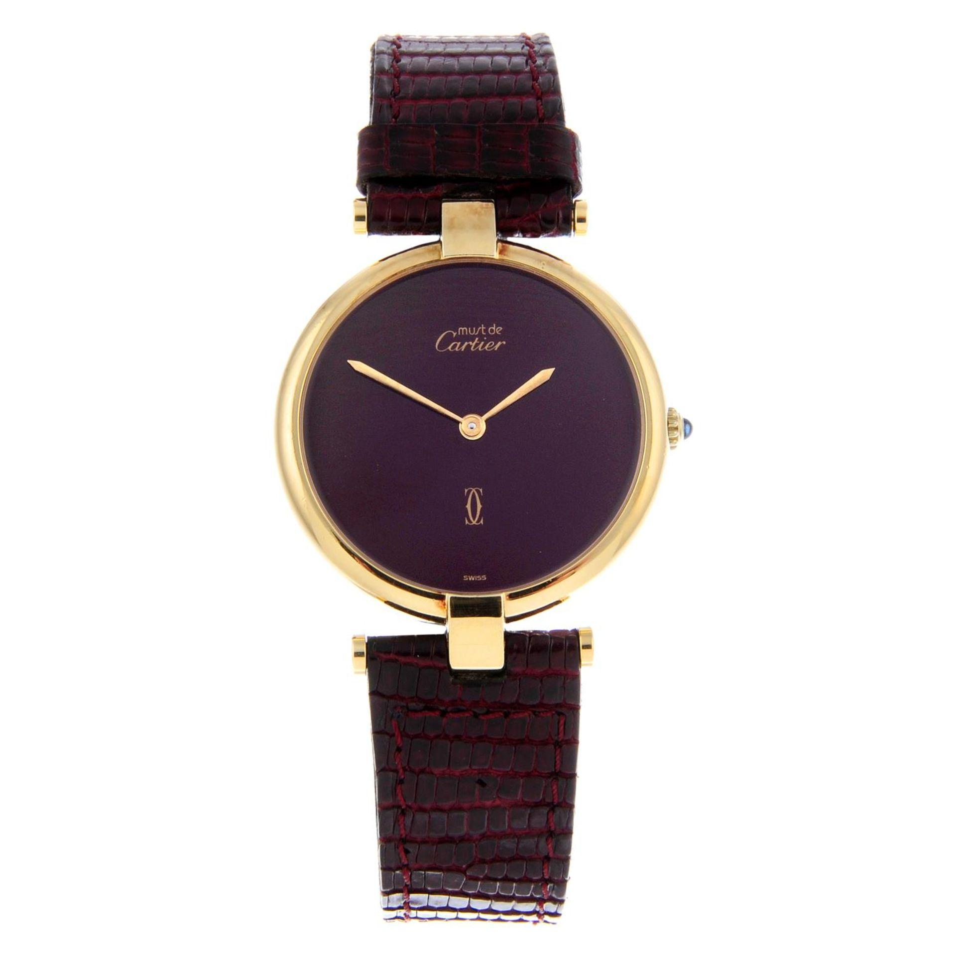 Los 18 - CARTIER - a Must De Cartier Vendome wrist watch.