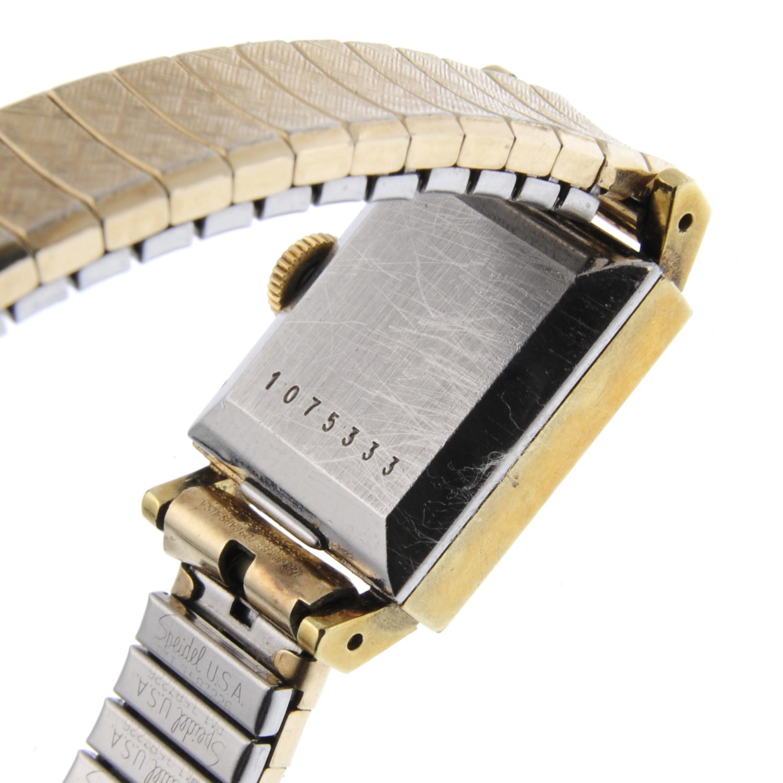 Lot 37 - JAEGER-LECOULTRE - a lady's bracelet watch.