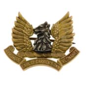 An early to mid 20th century 'Ayrshire Earl of Carrick's Own Yeomanry' regimental bi-colour