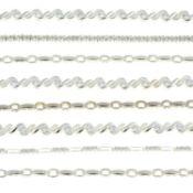 Eight cubic zirconia line bracelets.