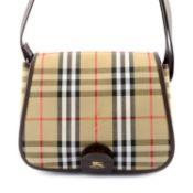 BURBERRY - a Haymarket Check handbag.