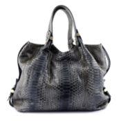 ARMANI - a python skin hobo handbag.