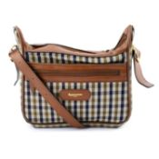 AQUASCUTUM - a Club Check handbag.