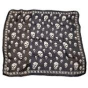ALEXANDER MCQUEEN - a silk chiffon skull scarf.