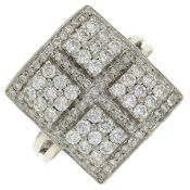 An 18ct gold brilliant-cut diamond dress ring.