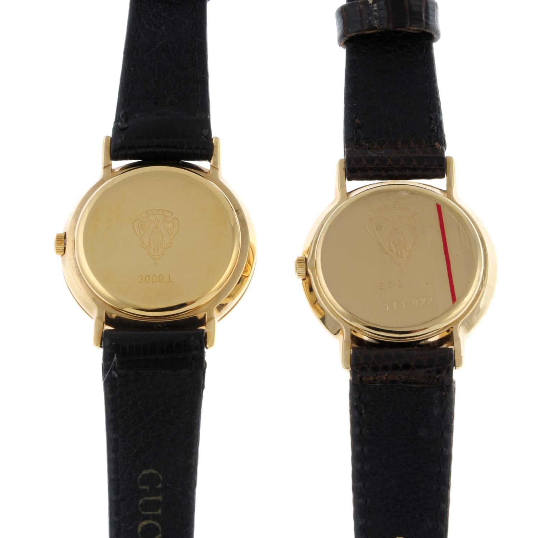 GUCCI - a lady's 3001L wrist watch. - Image 4 of 5