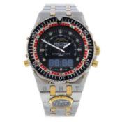BREITLING - a gentleman's Cosmos (Navitimer 2400) bracelet watch.