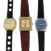 A group of six assorted mechanical watches, to include an example by Certina, Fortis and Tissot.