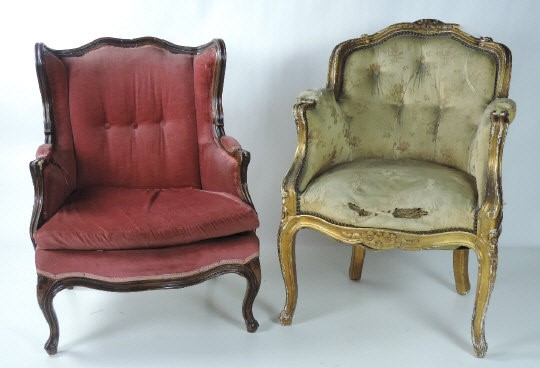 Lot 44 - A good quality 19th Century giltwood Fauteuil, with shaped carved back,