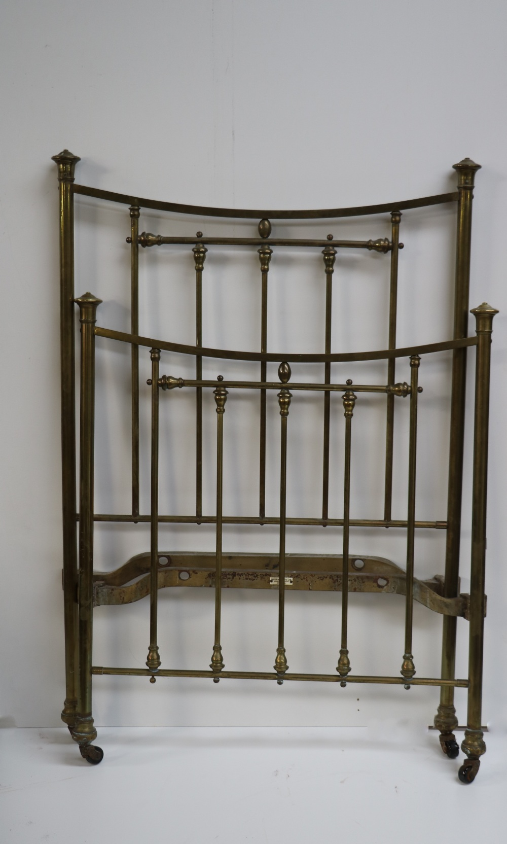 Lot 11 - A pair of attractive Edwardian brass Bed Ends.