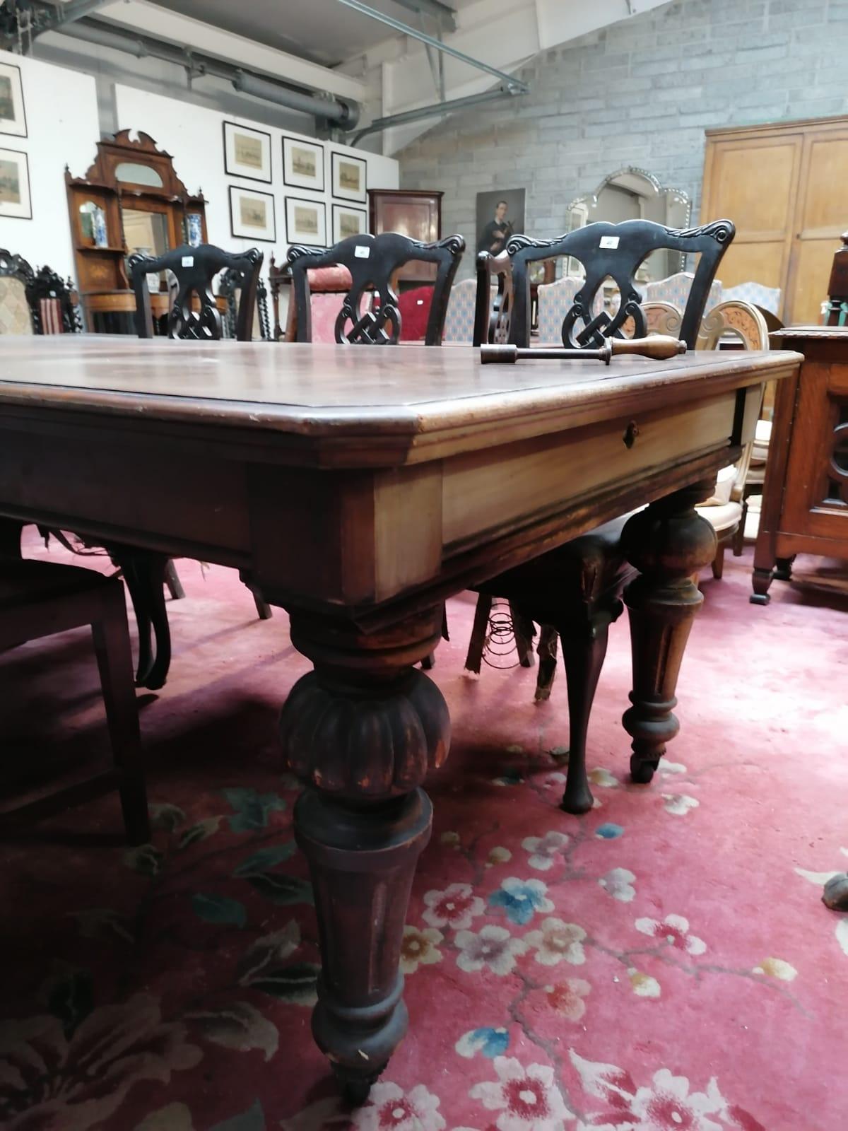 Lot 39 - A large Victorian Irish mahogany extending Dining Table,