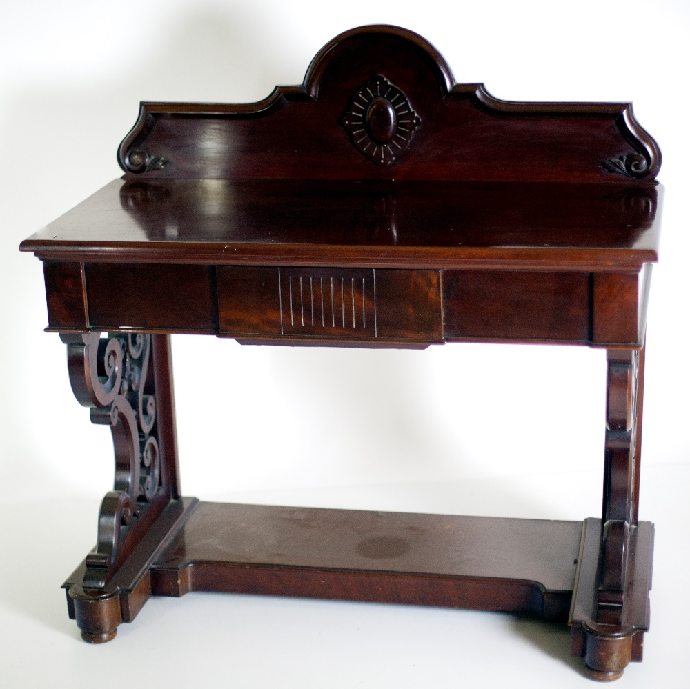 Lot 22 - A Victorian mahogany Hall Table,