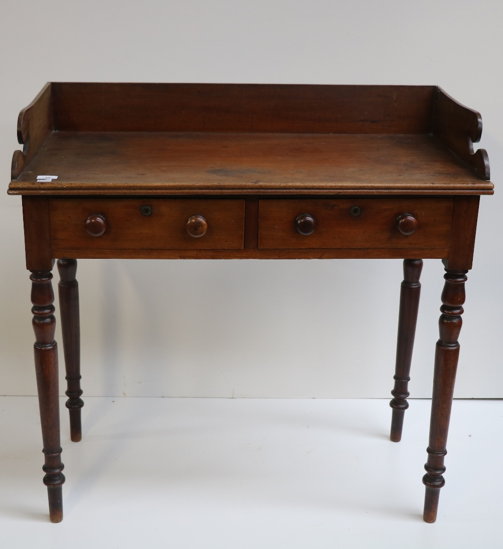 Lot 46 - A Victorian mahogany Dressing / Side Table,