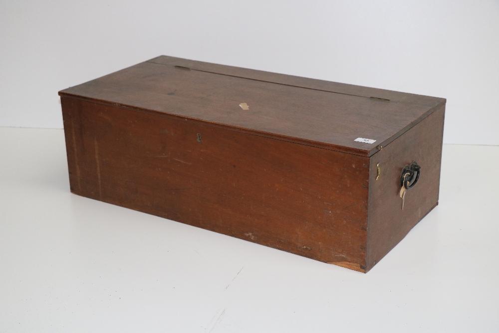 Lot 50 - A large rectangular antique mahogany Box.