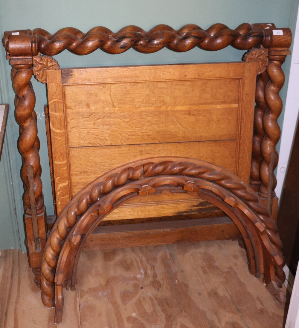 Lot 32 - An unusual 19th Century oak Single Bed,