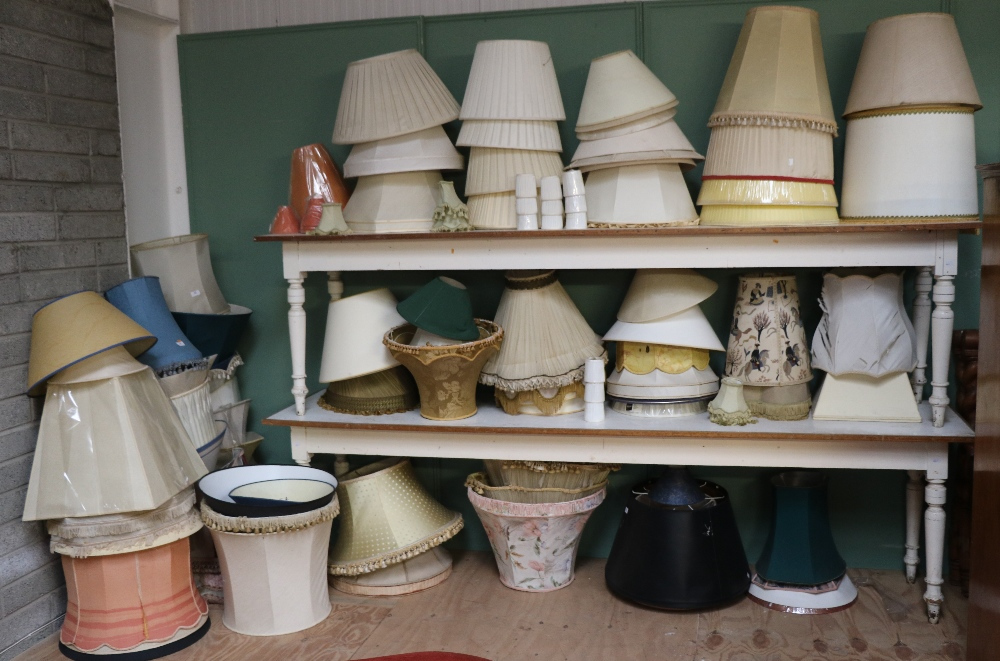 Lot 30 - A large collection of modern Light Shades, of varying sizes. As a collection, w.a.f.