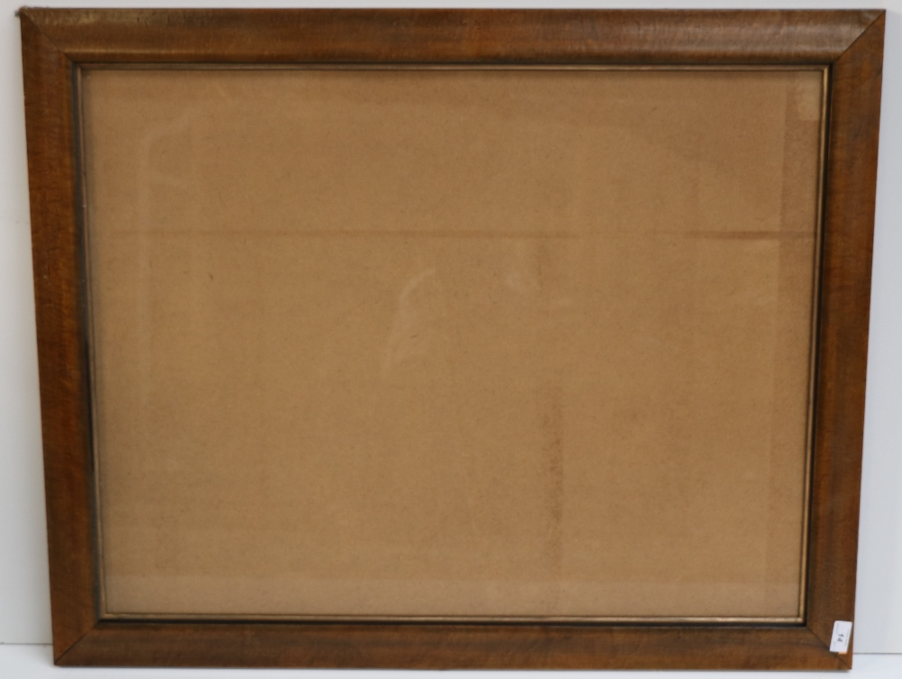 Lot 14 - Set of 4 large matching burr-walnut Picture Frames (4)
